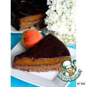 Рецепт Шоколадный торт с абрикосовой прослойкой