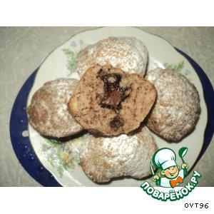 Рецепт Кексики с орехами и шоколадом