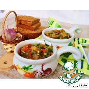 Рецепт Салат из запеченых овощей