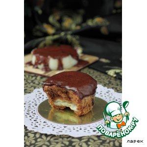 Рецепт Шоколадные маффины со сливочным пудингом