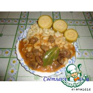 Как приготовить Гуляш из куриных сердечек домашний рецепт с фото пошагово