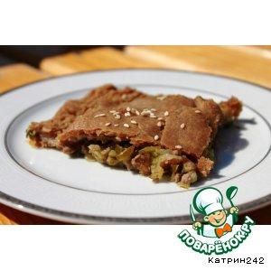 Рецепт Ржаной мясной пирог с маринованными огурцами