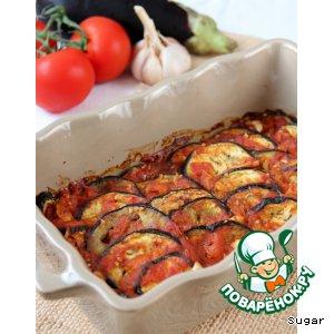 Рецепт Баклажаны, запеченные под томатно-коричным соусом