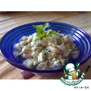 Рецепт Салат картофельный с фасолью