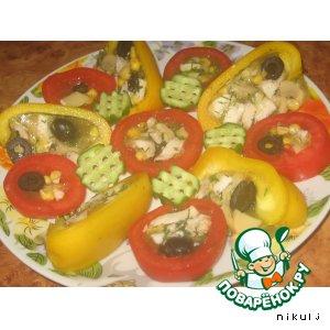 Рецепт Заливные овощи
