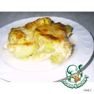Рецепт Сливочная запеканка из кабачков