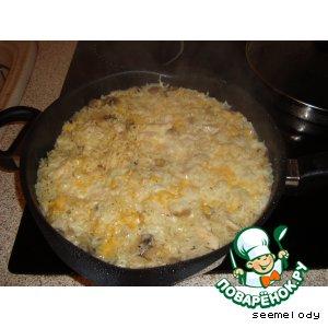 """Рецепт Рис """"Любимый"""" с куриными грудками и грибами"""