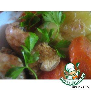 Рецепт Курочка запеченая в рукаве с овощами