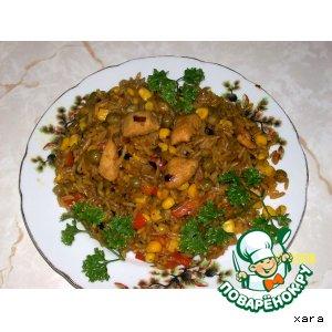 Рецепт Рис с овощами и куриным филе (фантазия на тему ризотто)