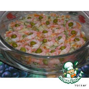 Как приготовить Креветочный салат домашний рецепт с фото пошагово