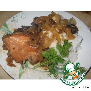 Курица в вине с черносливом вкусный рецепт с фотографиями как приготовить