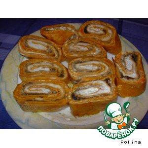 Рецепт Рулетик из Мексиканской лепeшки (Tortilass) можно лаваш армянский