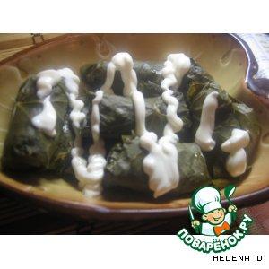 Рецепт Долма - фаршированные виноградные листья