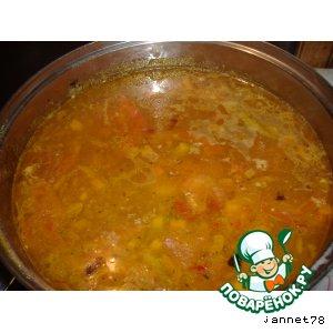 Рецепт Суп с сырными фрикадельками