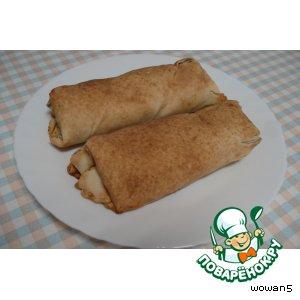 Рецепт Лаваш  с  баклажанно-мясной  начикой