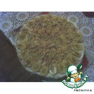Рецепт Бананово-ореховый тортик на скорую руку