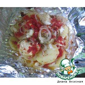 Рецепт Запеченный картофель с аджикой
