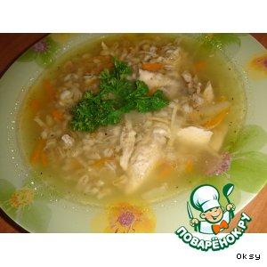 Рецепт Куриный суп с перловой крупой