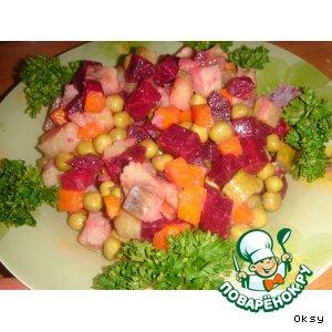 Рецепт Салат с селедочкой и свеклой