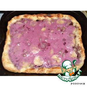 Рецепт Сладкая творожная пицца