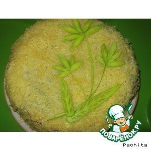 Рецепт Печеночный торт с баклажанами