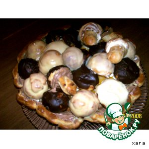 "Рецепт Торт ""Корзинка с грибами"""
