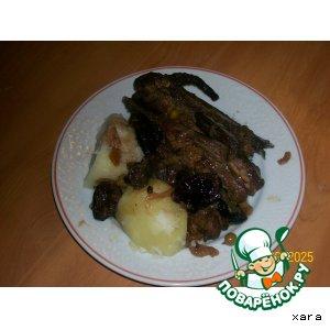 Рецепт Бараньи ребрышки с черносливом