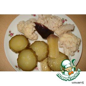 Маринованные  овощи: экспресс - метод вкусный рецепт приготовления с фото пошагово как приготовить