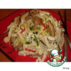 Рецепт Салат из пекинской капусты с грибами шиитаке