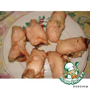 Рецепт Куриные рулетики с беконом