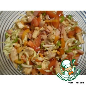Рецепт Теплый салат из курицы