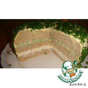 """Рецепт Закусочный """"торт"""" из хлеба"""