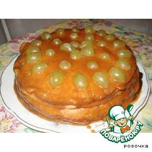 Рецепт Блинчатый пирог с ирисками