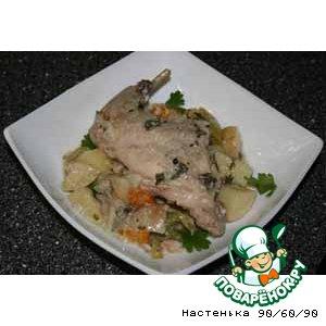 Рецепт Кролик с овощами по-мальтийски