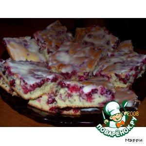 """Рецепт: Брусничный пирог """"Нежность"""""""
