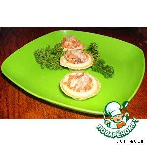 Рецепт Рыбный салат в мини тарталетках