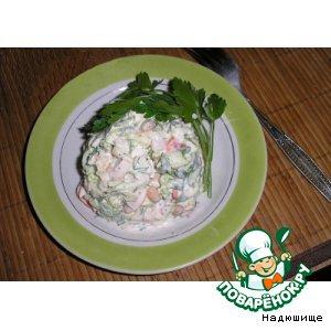 """Рецепт Овощной салатик """"Свежий"""""""
