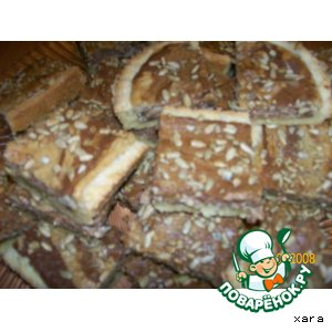 Рецепт Песочный пирог с халвой