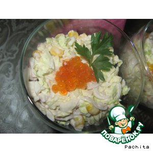 "Рецепт Салат-коктейль ""Адажио"" с морепродуктами"