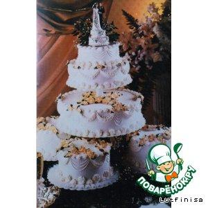 Рецепт Свадебный торт или торт ко дню рождения