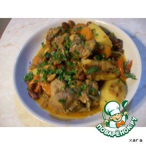Рецепт Баранина с фасолью и овощами в горшочках
