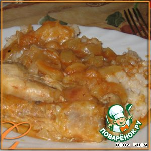 Рецепт Курочка с яблоками и кабачками