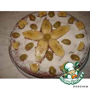 """Рецепт Банановый пирог """" Осенний цветок"""""""