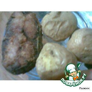 Рецепт Жареная рыбка с любимой печеной картошечкой