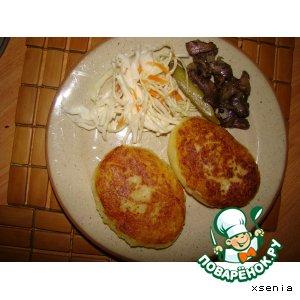 Рецепт Картофельные пирожки с капустой, грибами