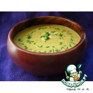 Рецепт Крем-суп из сквоша и тыквы с печеным чесноком