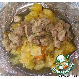 Рецепт Гуляш с овощным рагу
