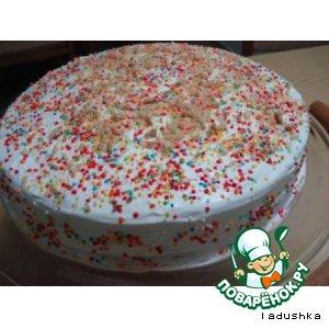 Рецепт Легкий бисквит-торт «Радость»