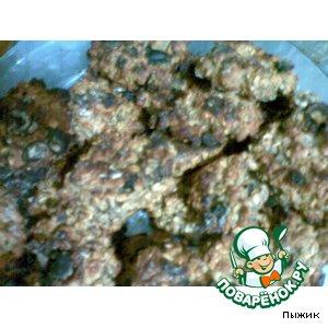 Рецепт Овсяное печенье с изюмом и клубникой