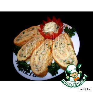 Рецепт Рулет с рыбным салатиком